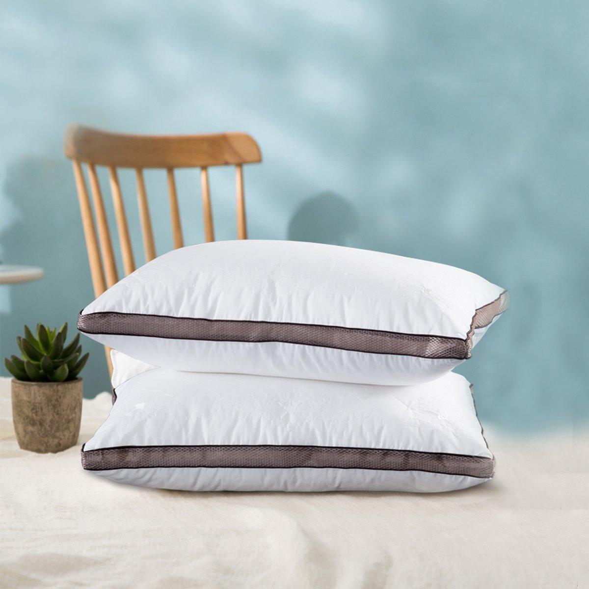 Ramada全棉绣花护颈枕芯一对拍2颈椎枕头芯纯棉枕头芯枕芯枕头COLOR白色