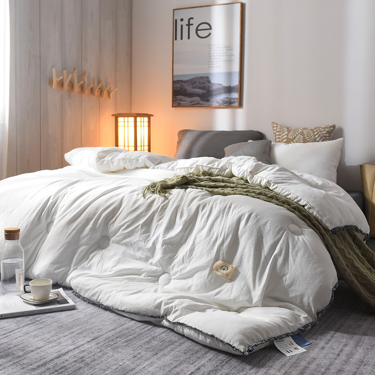 Ramada【年底清仓】柔系列保暖被子被芯床上盖被空调被被芯被子COLOR白色