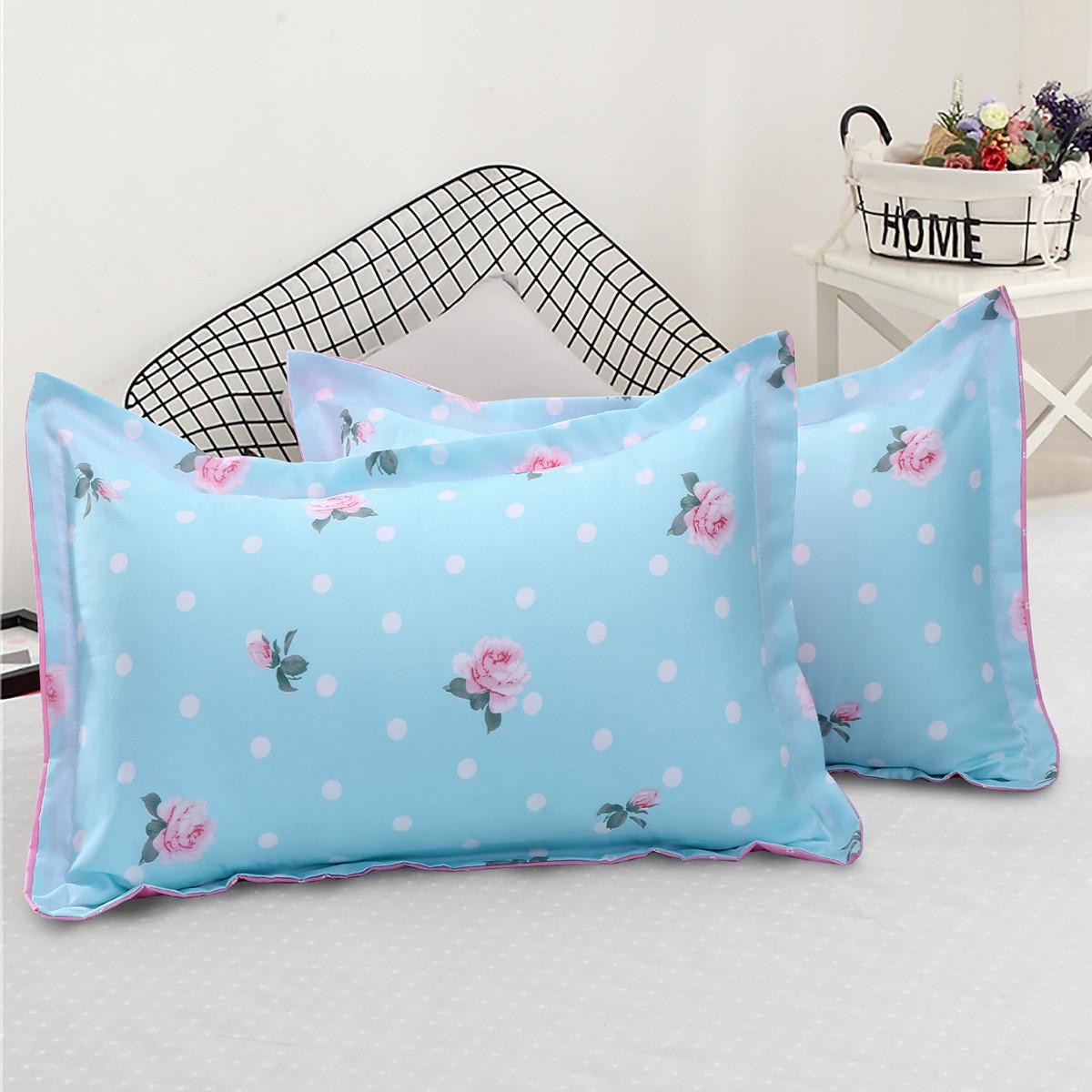 Ramada【年底清仓】柔系列简约枕套床用单品枕头套一对装枕头套枕套COLOR蓝色