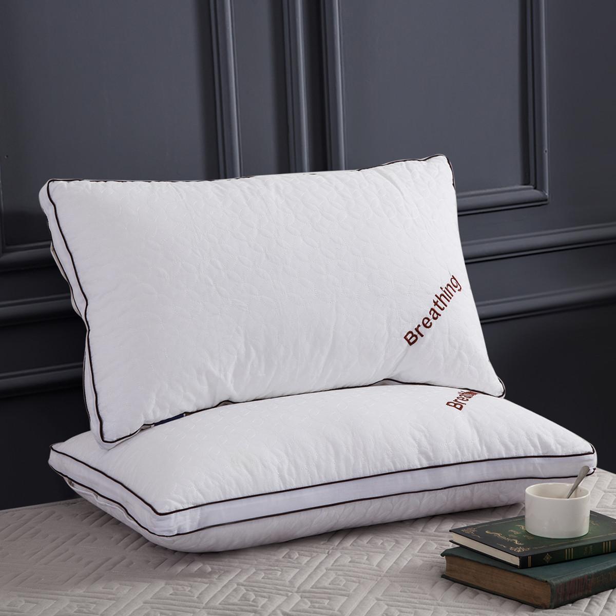 Ramada全棉绣花透气护颈枕芯床上用品颈椎枕头枕头芯枕芯枕头COLOR白色