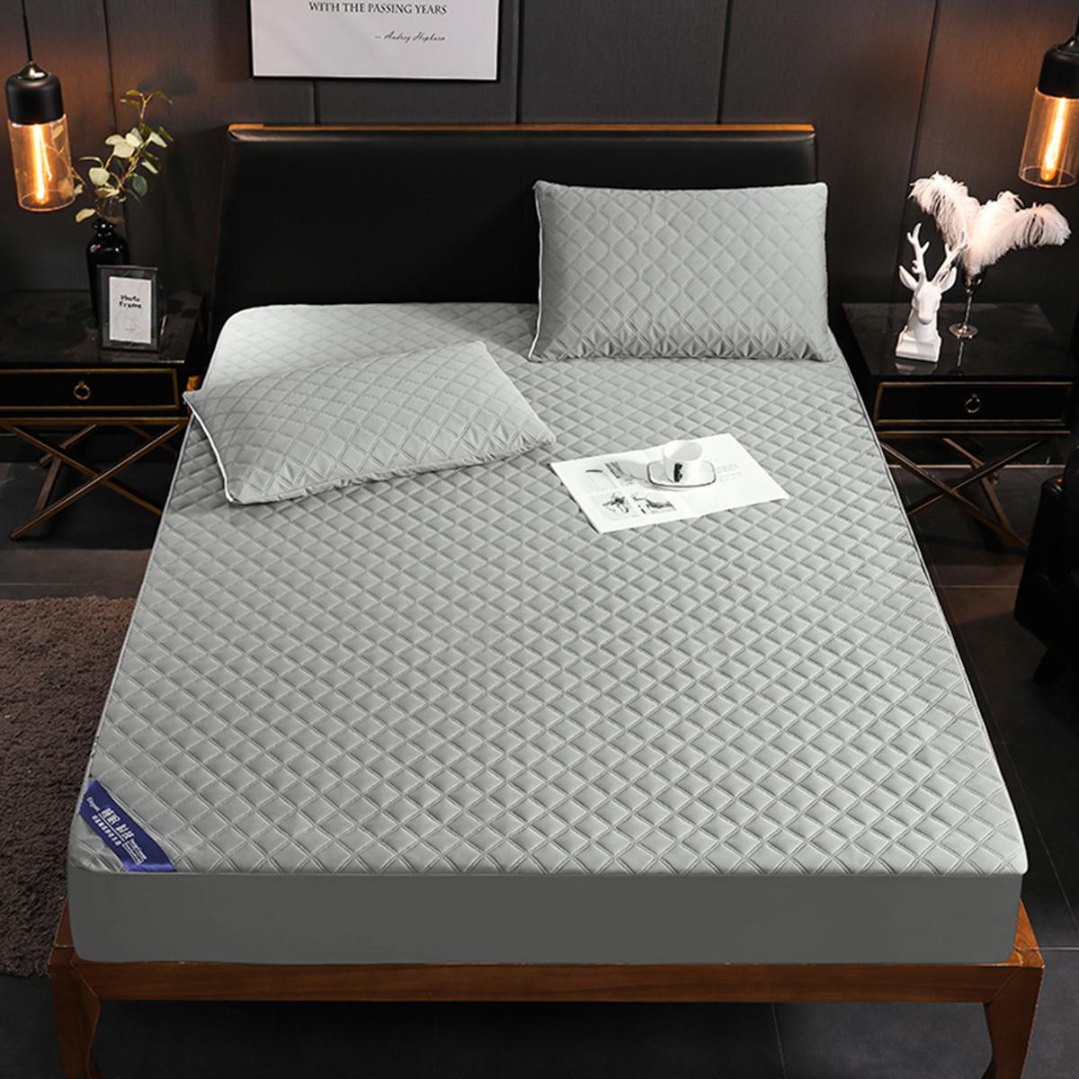 Ramada新款可机洗透气防水隔尿床笠榻榻米床垫床褥子床笠床褥薄床垫COLOR灰色
