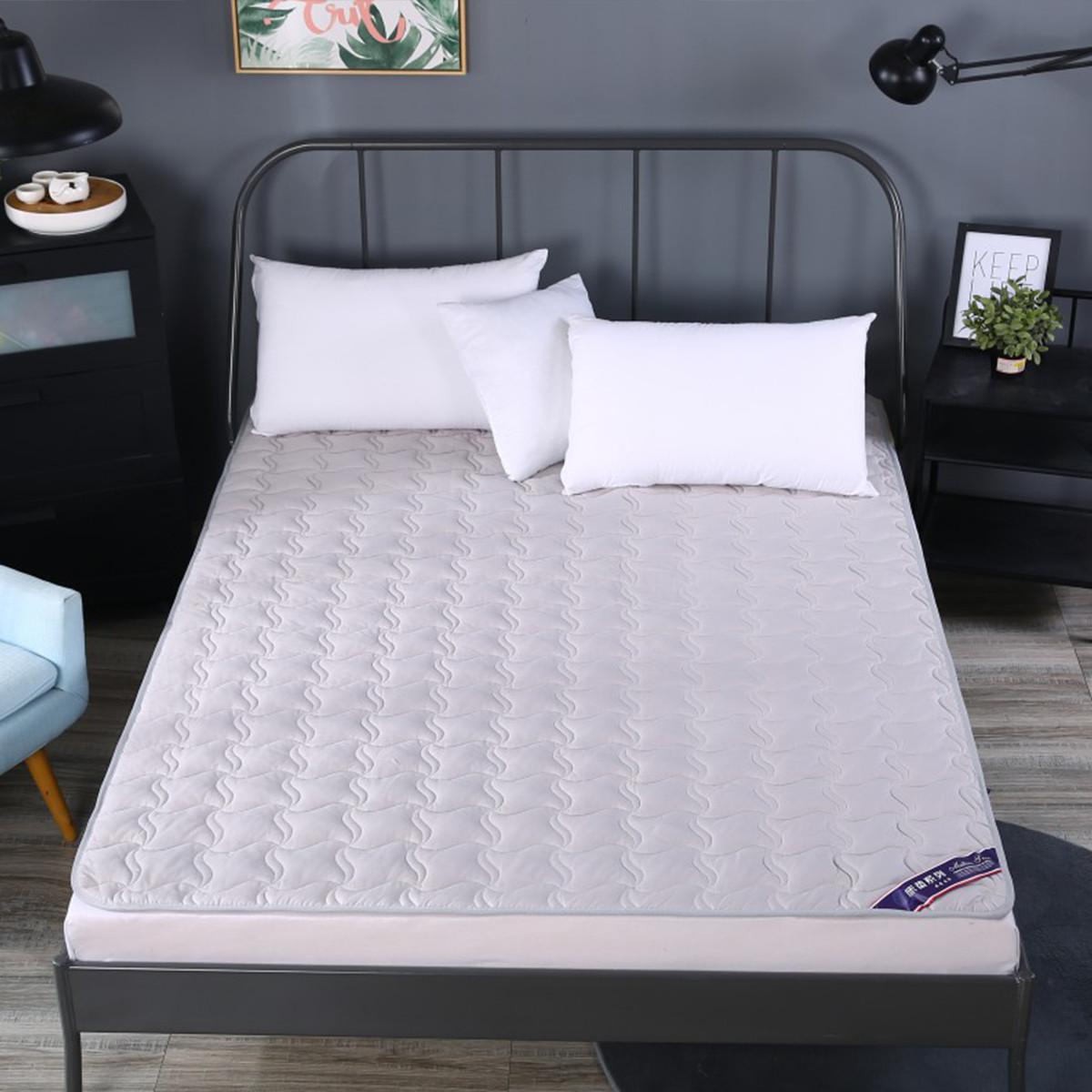 Ramada全棉夹棉可水洗床垫席梦思床垫床褥子垫被褥子床笠床褥薄床垫COLOR灰色