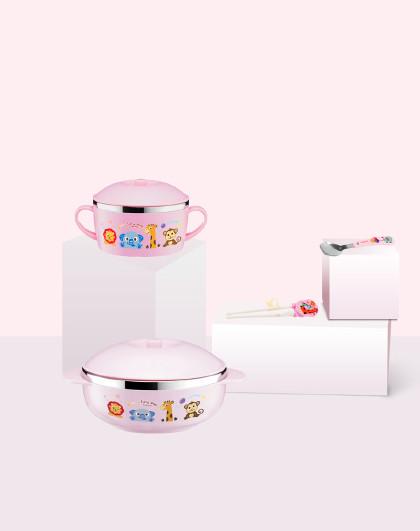 儿童餐具辅食碗宝宝碗吃饭勺子训练筷子不锈钢餐具便携套装