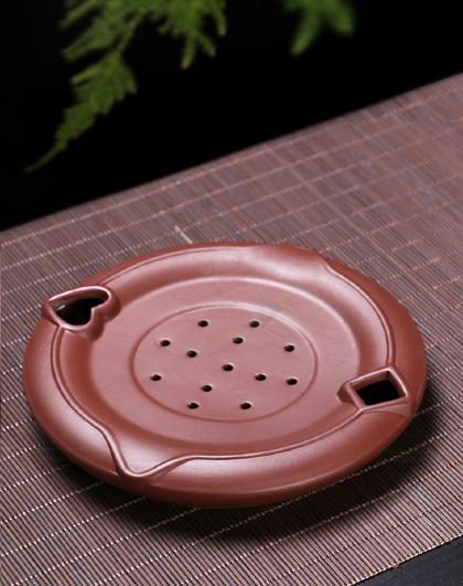 紫砂茶壶承干泡养壶垫托盘功夫茶具手工制作茶道零配件