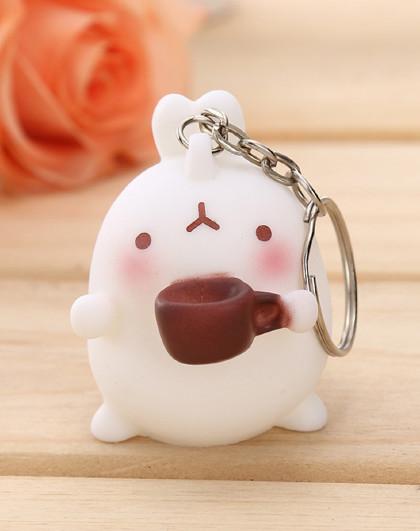 2个装创意韩国可爱兔子钥匙扣挂件挂饰
