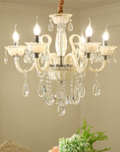 歐式吊燈水晶燈客廳燈簡約現代大氣奢華簡歐房間燈臥室燈2018新款水晶