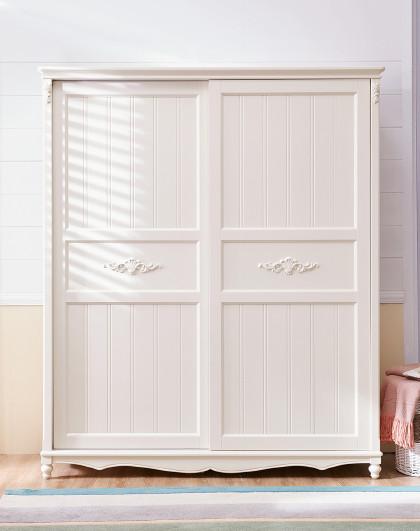简约现代经济型2移门衣柜推拉门实木脚欧式卧室家具bd3d