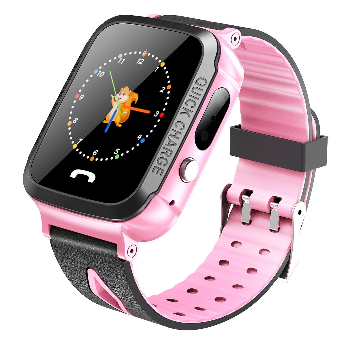 ATOUMUATOUMU儿童电话手表学生GPS双重智能拍照定位防水COLORV5A-移动联通版(粉色)