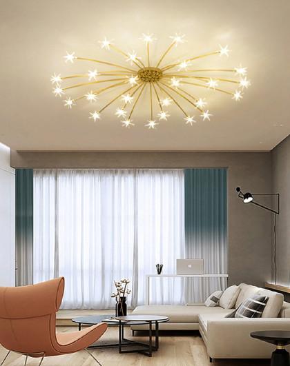 現代簡約客廳吸頂燈led創意個性兒童房臥室燈具滿天星藝術燈飾