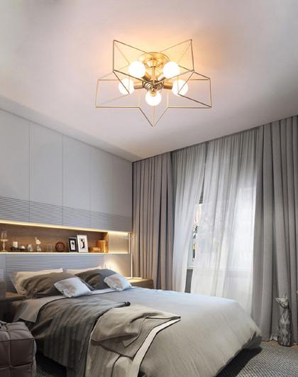 韓式過道吸頂燈現代簡約led客廳臥室燈具創意個性五角星兒童房燈