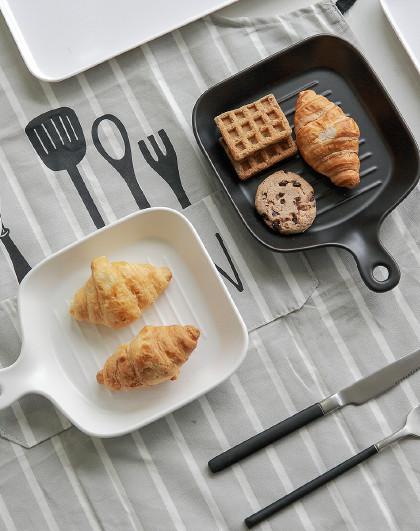 北欧ins设计感上菜盘烤盘烘焙工具陶瓷蛋糕点心盘美食摄影盘子