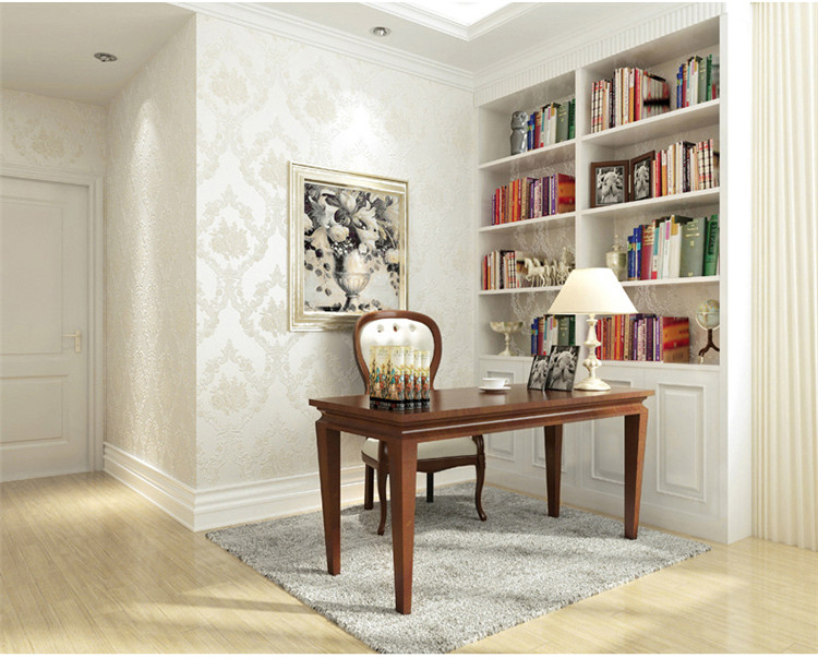 欧式墙纸无纺布3d立体卧室客厅电视背景墙壁纸家用