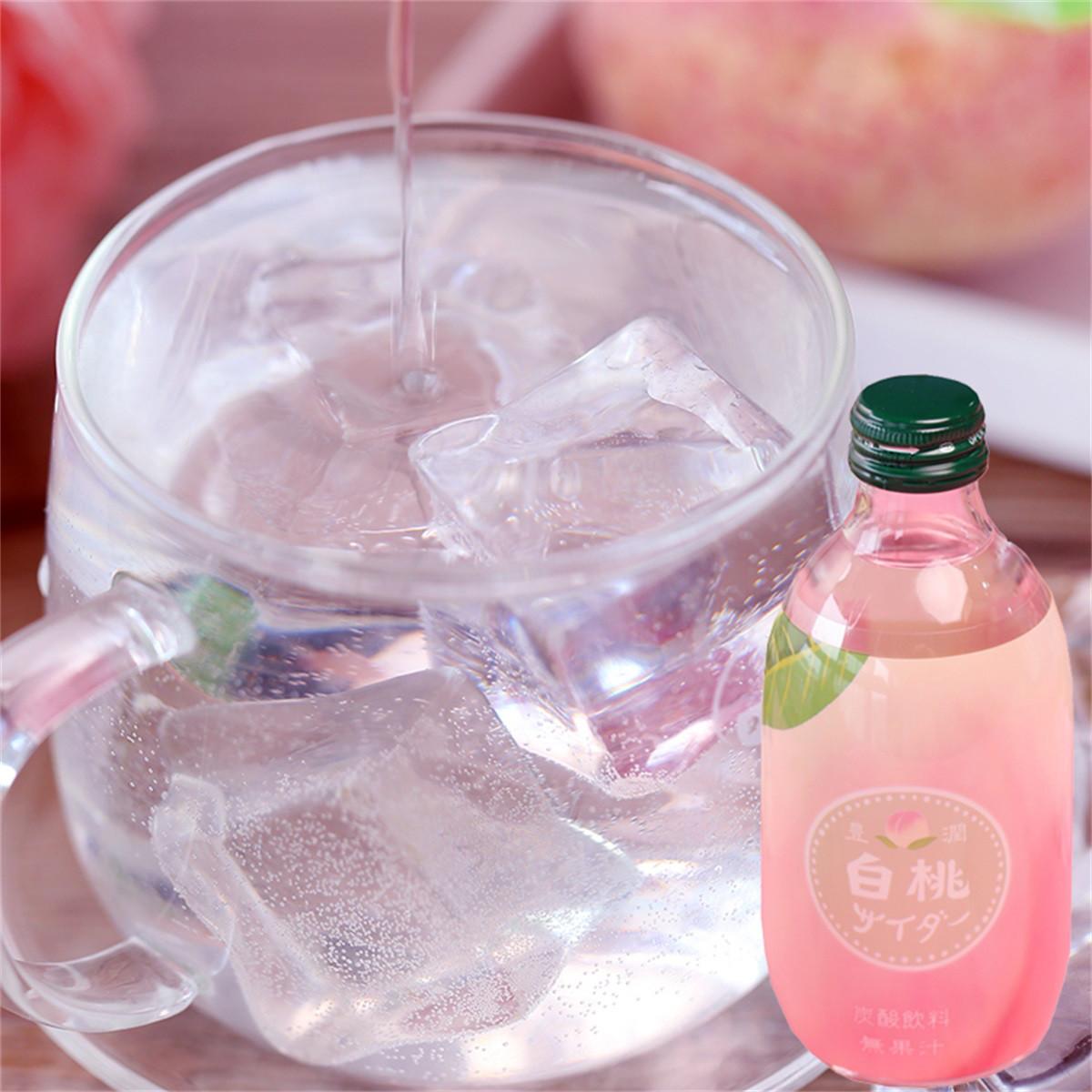 和風细语友树300ml*5瓶玻璃瓶哈密瓜西瓜白桃芒果菠萝味碳酸饮料COLOR西瓜味*4瓶