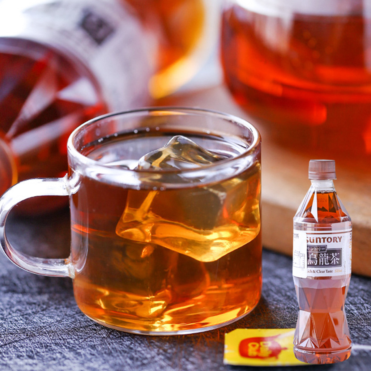 和風细语日本进口SUNTORY三得利西柚果汁味饮料网红饮品COLOR乌龙茶饮品525ML