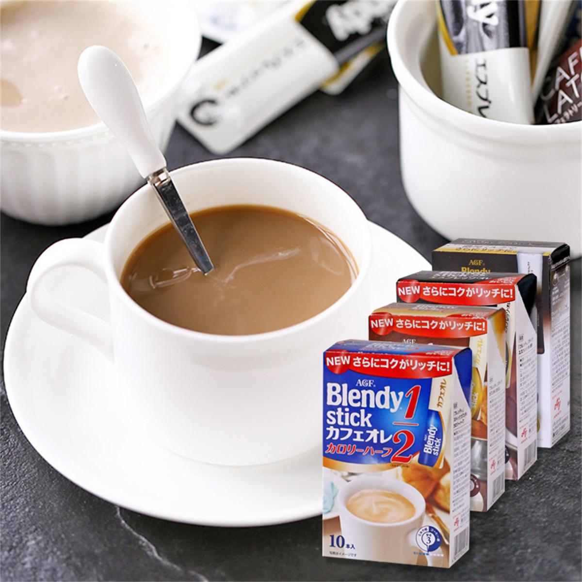 和風细语日本进口AGFBLENDY布兰迪桃子微甜牛奶欧蕾速溶咖啡COLOR微糖牛奶77g