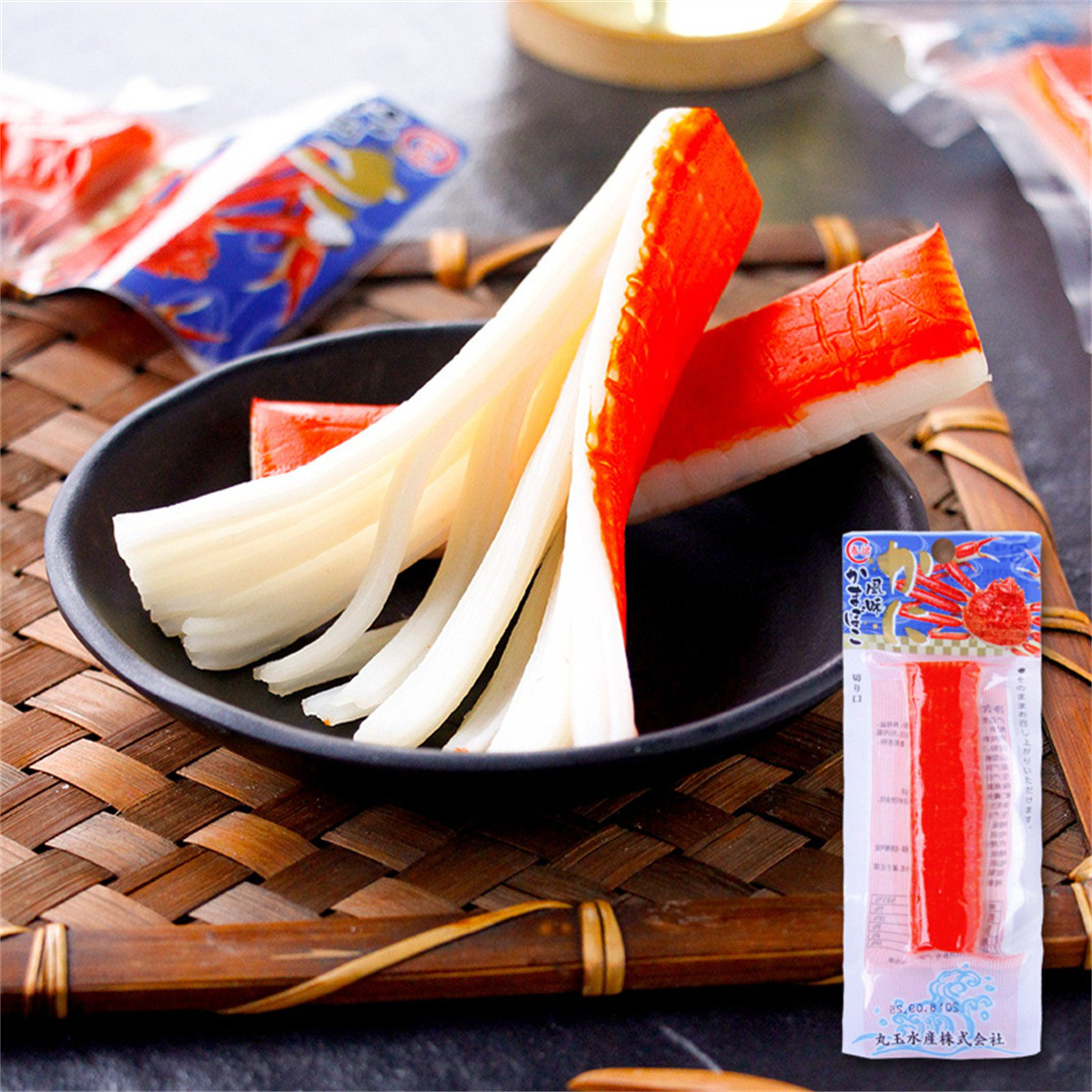 和風细语日本进口蟹肉棒15根装即食手撕蟹柳北海道长脚蟹休闲零食COLOR蟹肉棒