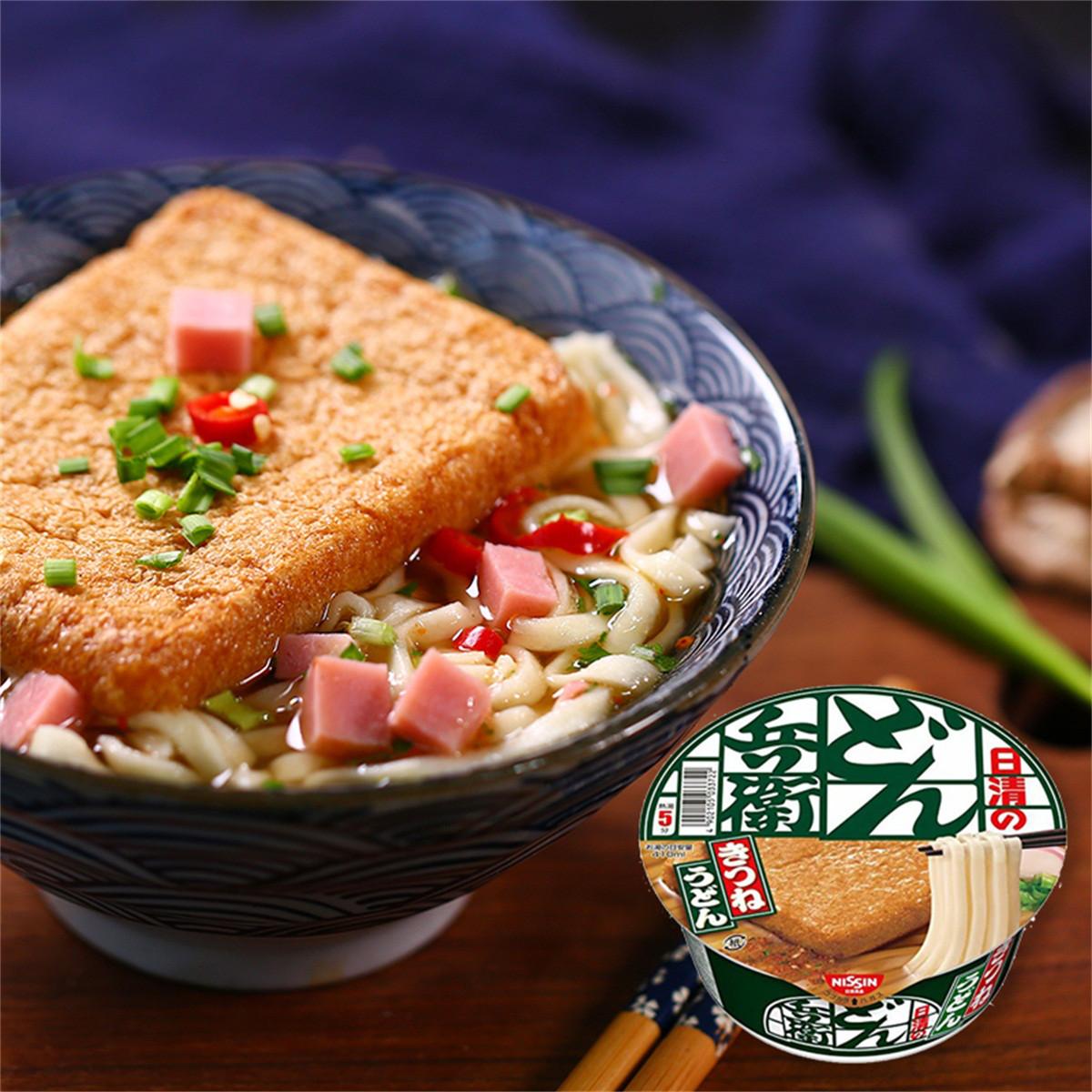 和風细语日本进口NISSIN/日清兵卫油豆腐拉面网红速食方便面碗装COLOR油豆腐拉面