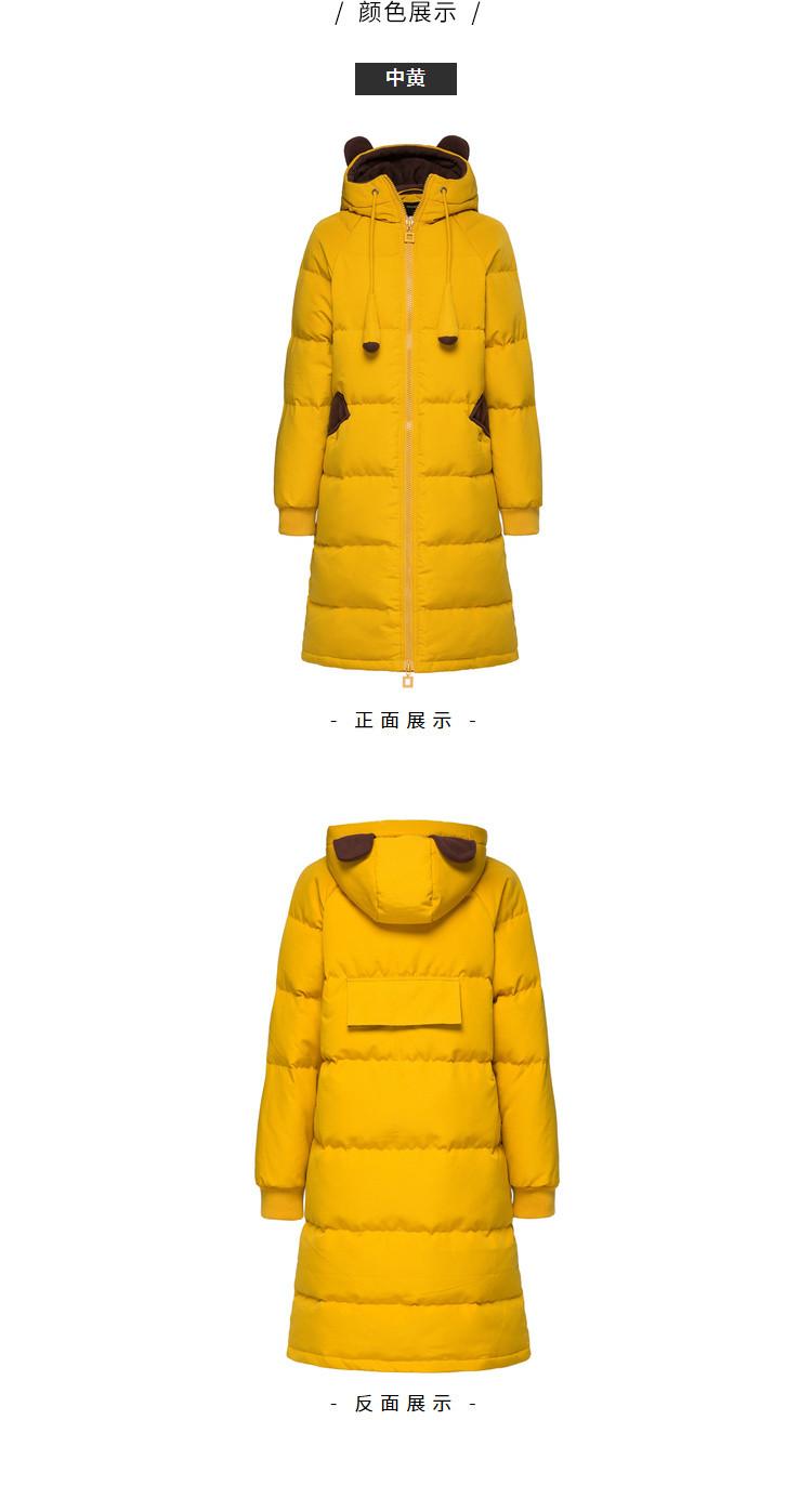 森马2018冬季新款中长款可爱连帽保暖显瘦冬装潮流外套女羽绒服图片