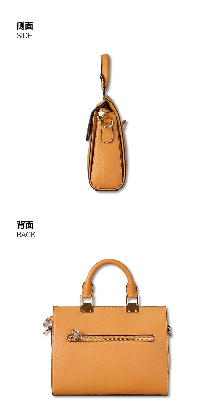 进口限量公爵系列手提包~设计师色橘色