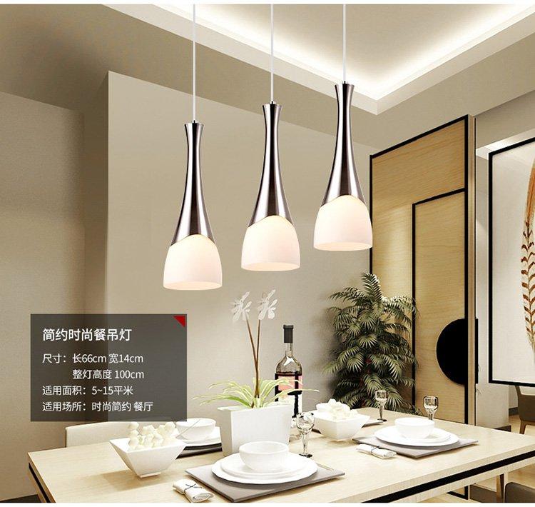欧普照明 led餐厅灯浪漫 现代简约时尚单头餐吊灯创意个性吧台吊灯