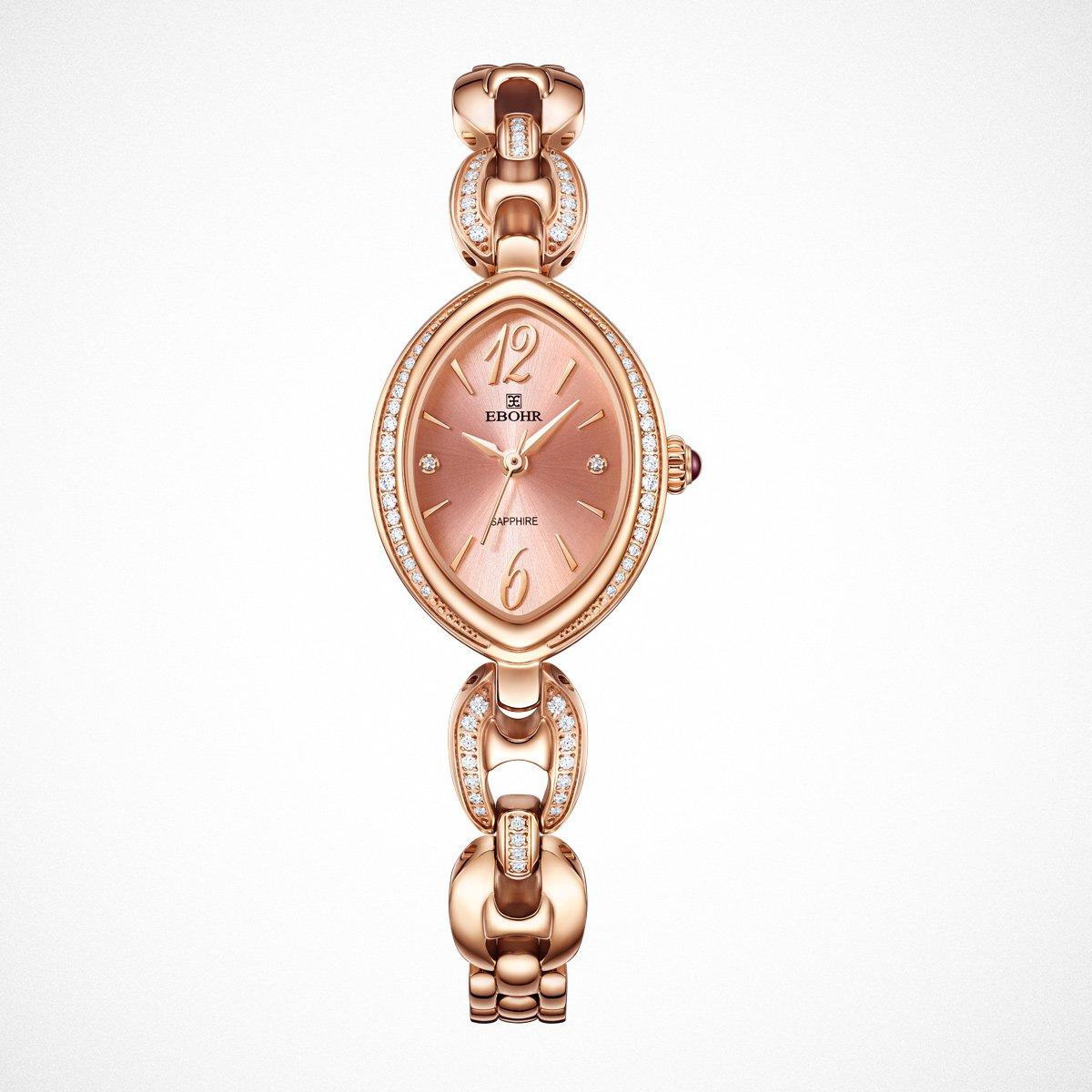依波依波专柜新品正品优雅手链式女士手表钢带女表进口石英机芯EB1706-0127L