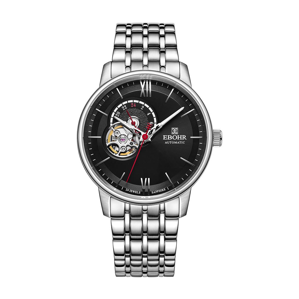 依波依波新品时尚个性镂空钢带男士手表防水进口机械男表56510119