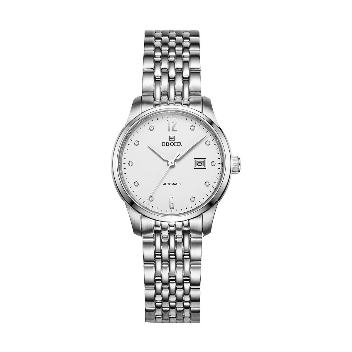 依波EBOHR女士机械手表商务防水钢带机械女手表51030322