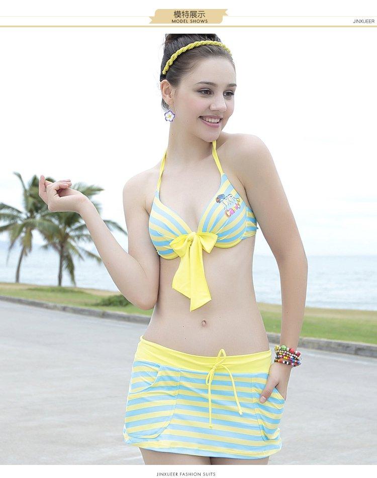 女欺j�9�h�l#�(j_jinxueer泳装专场青春运动 女款比基尼三件套泳衣16j