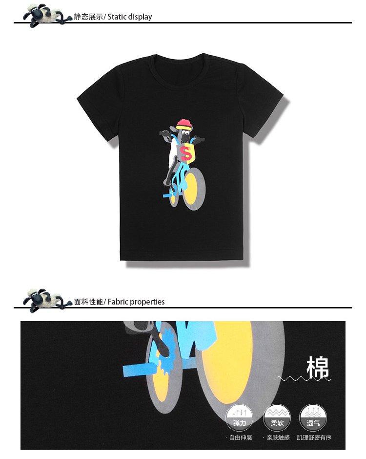 男童黑色卡通t恤