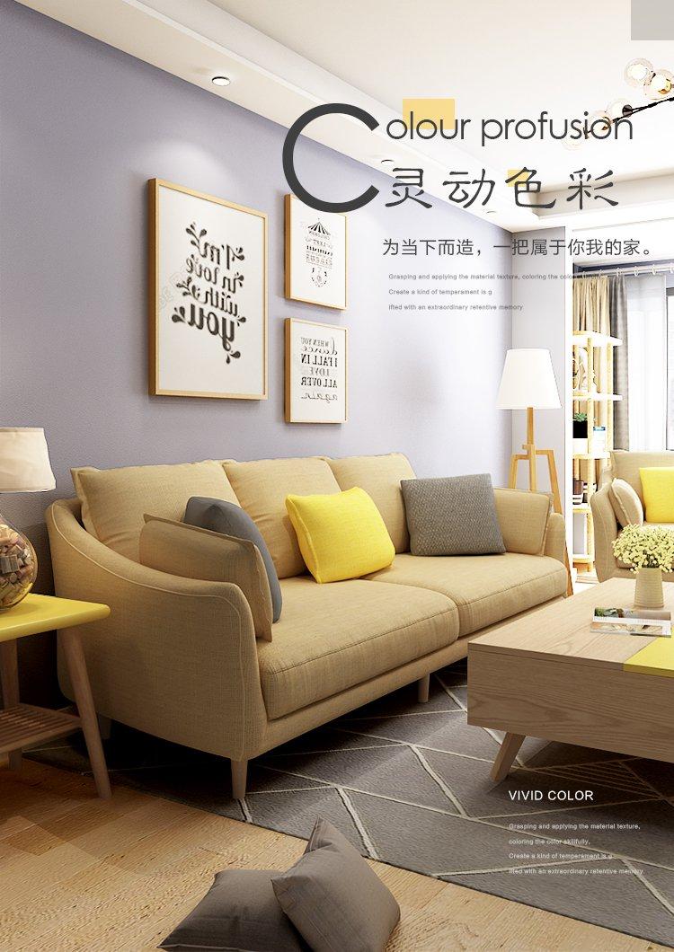 客厅小户型布艺沙发 现代布艺北欧沙发 小清新客厅布艺沙发