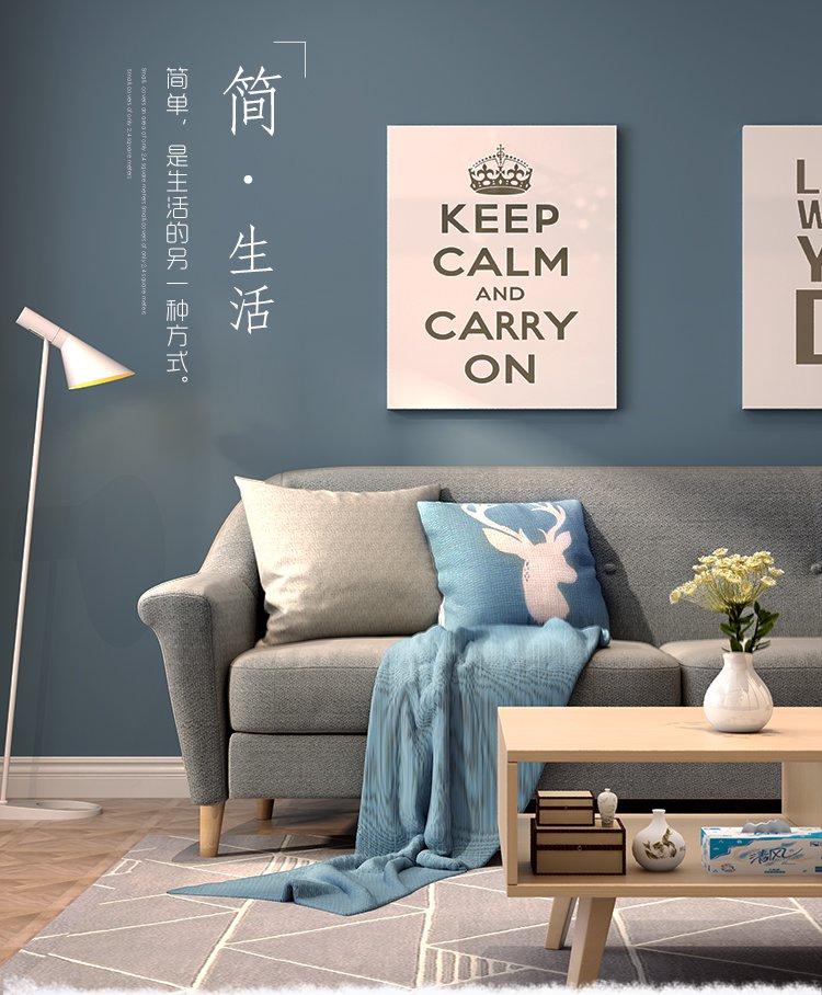 布艺沙发组合 欧式沙发简易小户型舒适沙发家具 双人卧室休闲沙发三人