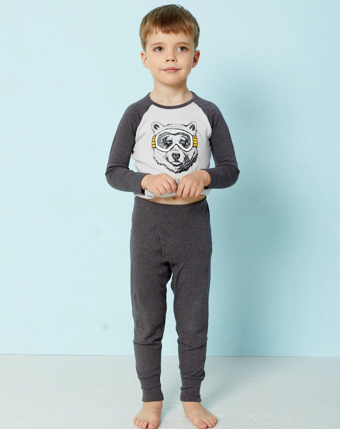 AIMER KIDS爱慕儿童酷玩熊秋裤长裤男童保暖儿童内衣AK273T82-59G