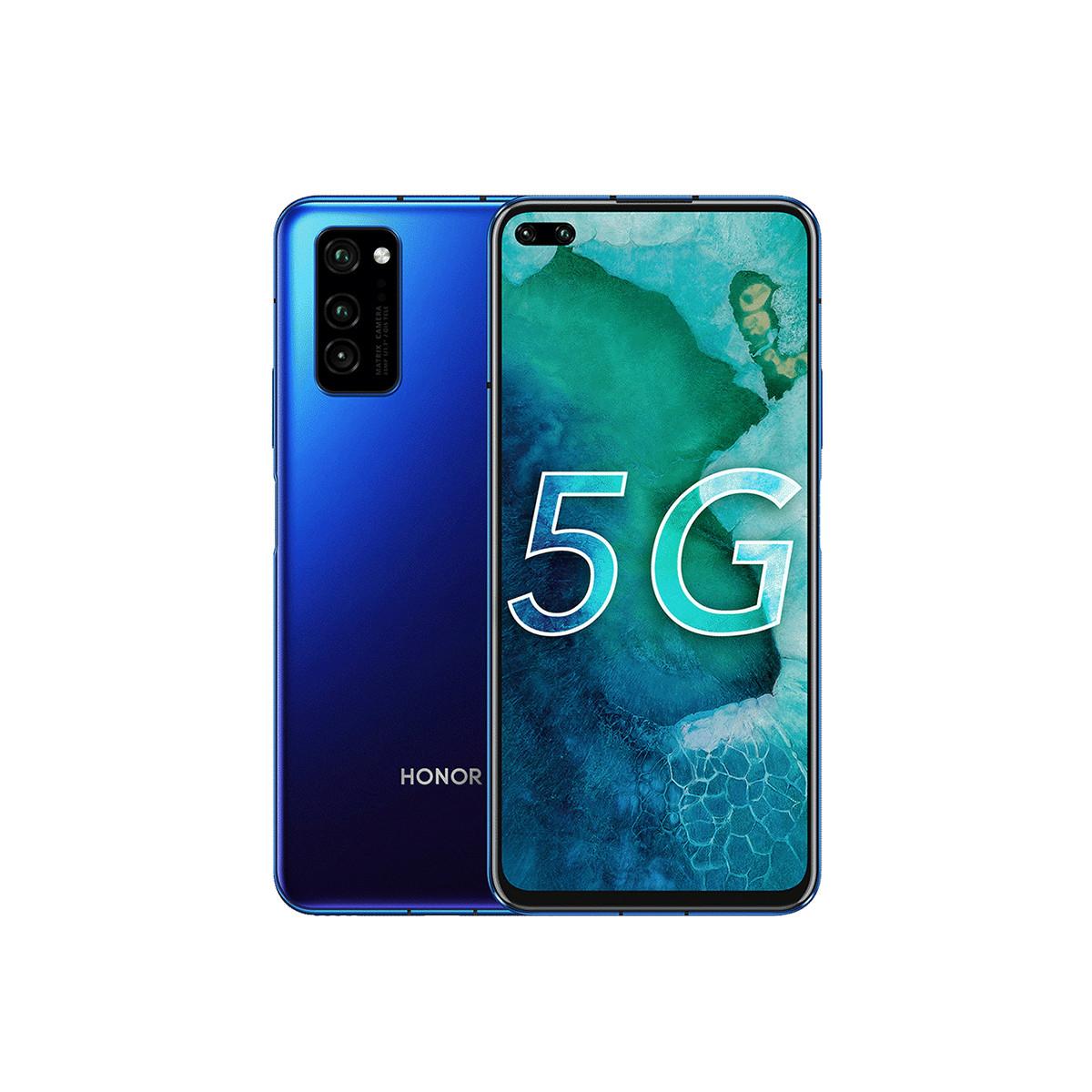 荣耀荣耀V30 8GB+128GB【标配套餐】麒麟990双模5G手机D荣耀V30 8GB+128GB 魅海星蓝-套餐