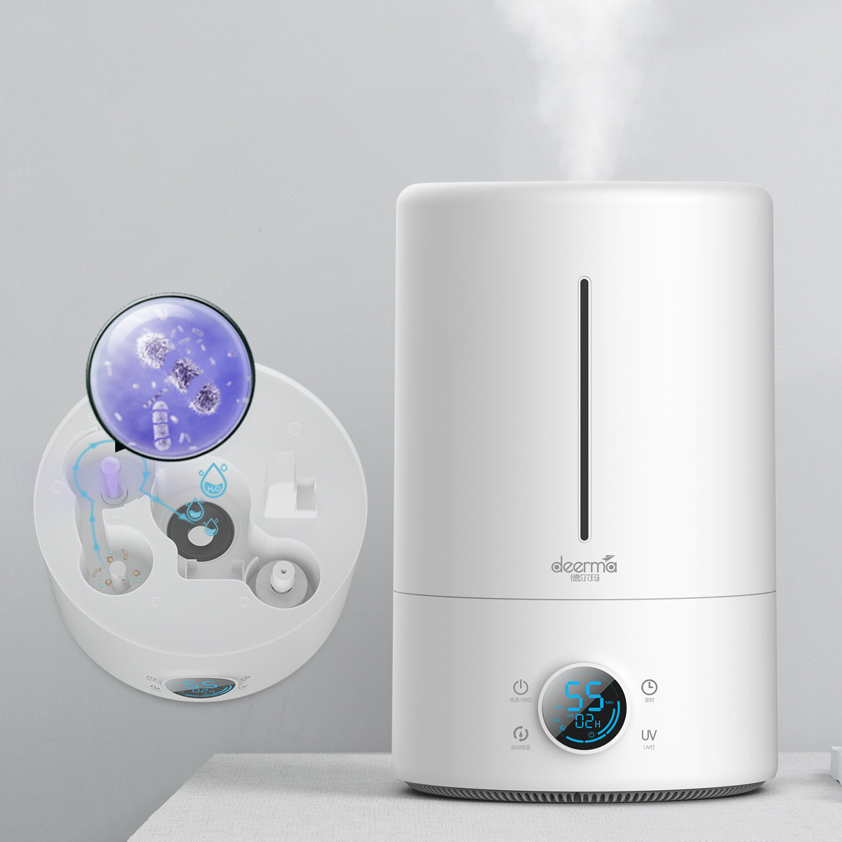 德尔玛德尔玛 家用加湿器 办公室加湿器 智能恒湿香薰机 F628SF628S