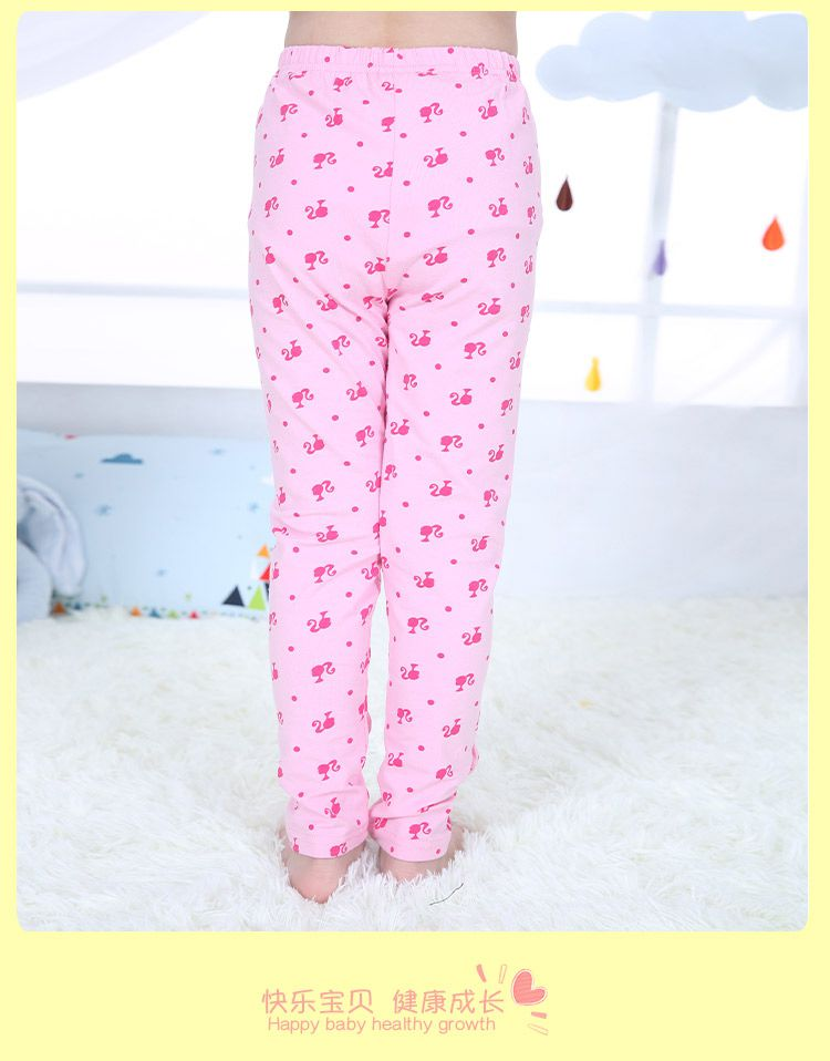 芭比娃娃粉色打底裤