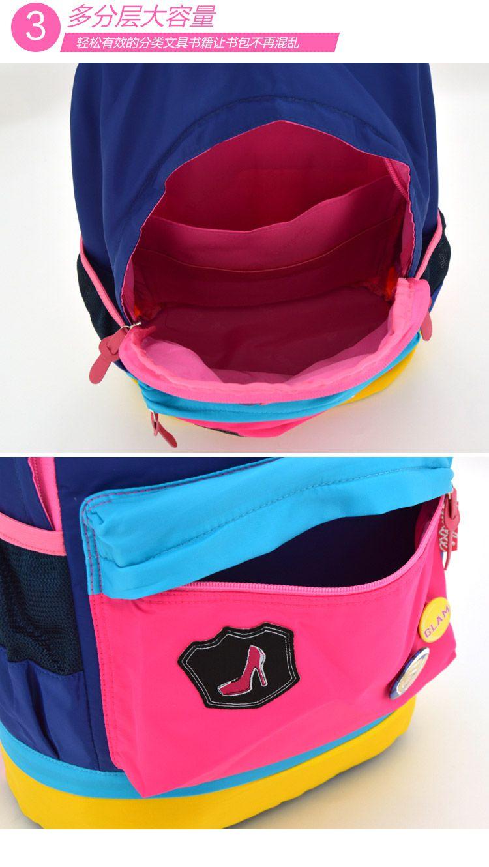 女童蓝色休闲背包图片