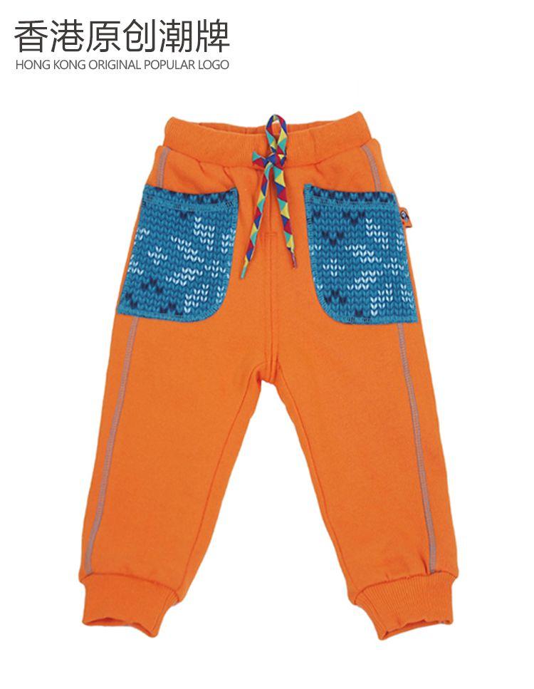 秋冬橙色加绒长裤 商品分类: 中性儿童下装 产地: 中国 材质: 面料:1