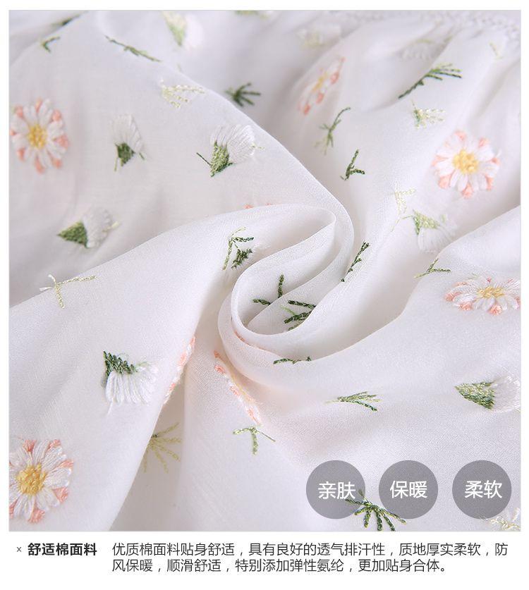 时尚小鱼ssxiaoyu男女童混合专场 女童米白可爱绣花衬衫