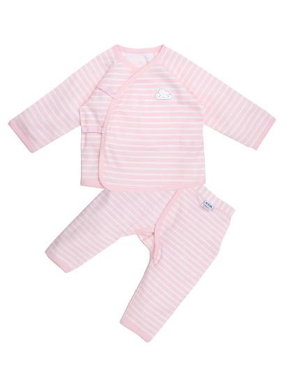初生套装 粉色条纹