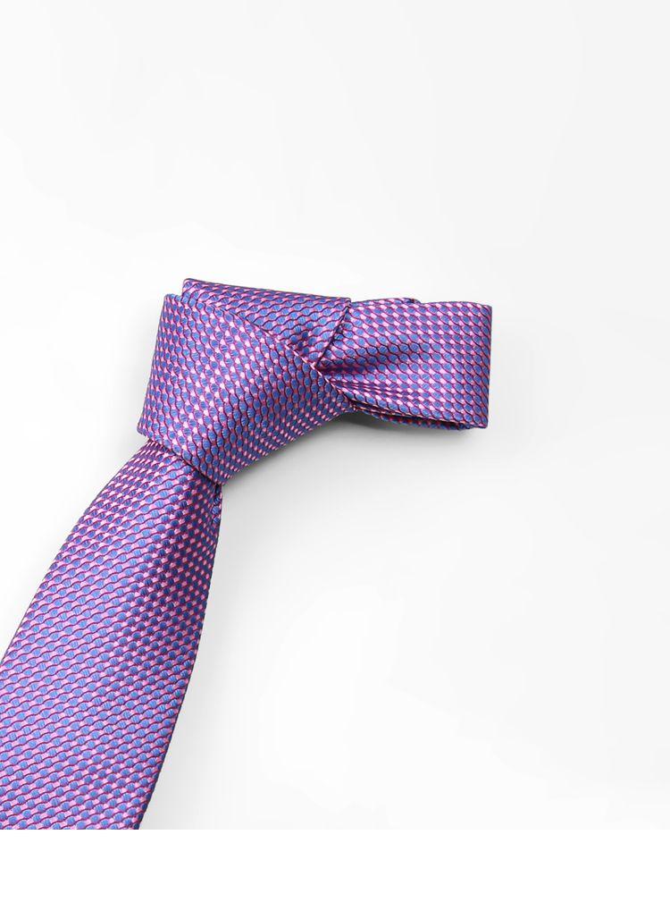 经典商务款领带浅紫花纹