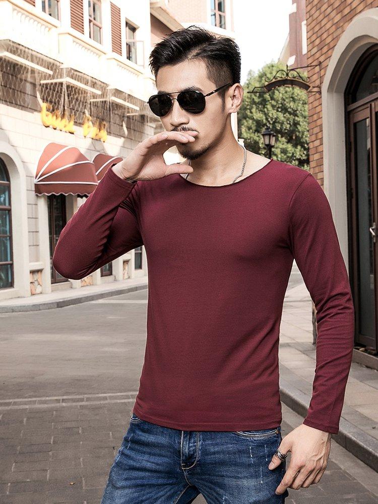 品牌名称: 缤慕 商品名称: 百搭纯色显瘦t恤枣红 产地: 中国 材质