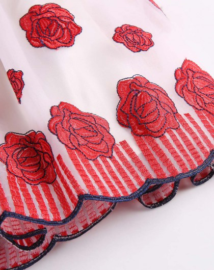 三朵玫瑰的拖鞋的编法