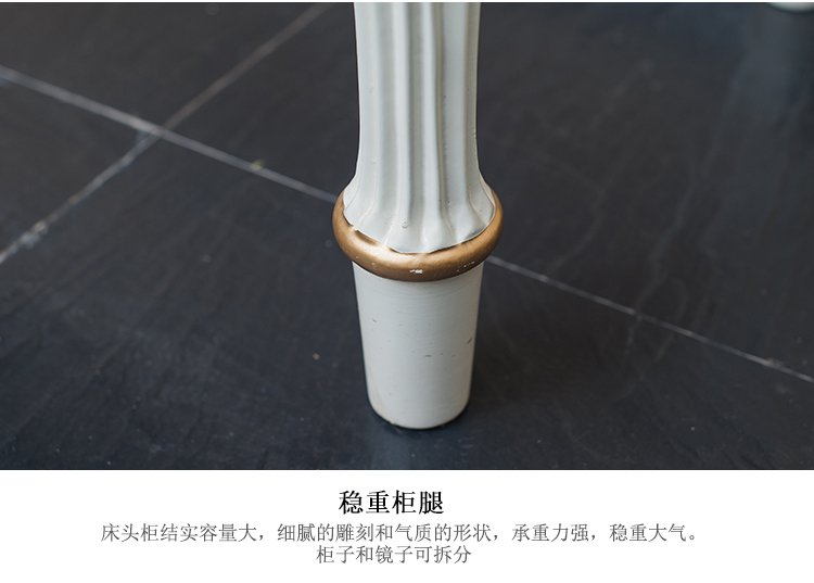 木质雕刻彩绘梳妆台