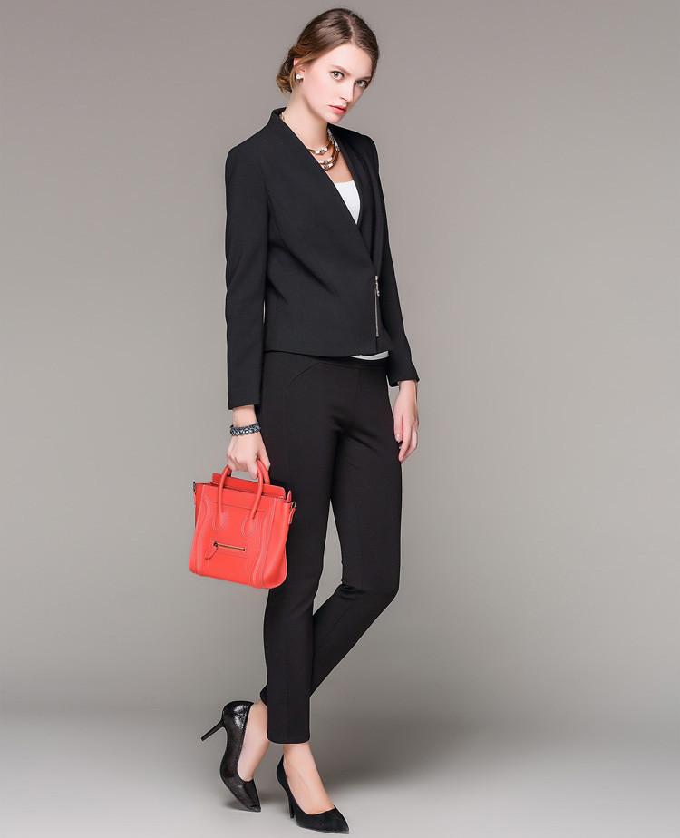 女装修身时尚百搭优雅小西装外套黑色           时尚敞领设计,气场逼图片