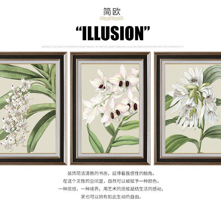 商品分类: 装饰画 产地: 中国 幅数: 三联 图案: 植物花卉 材质
