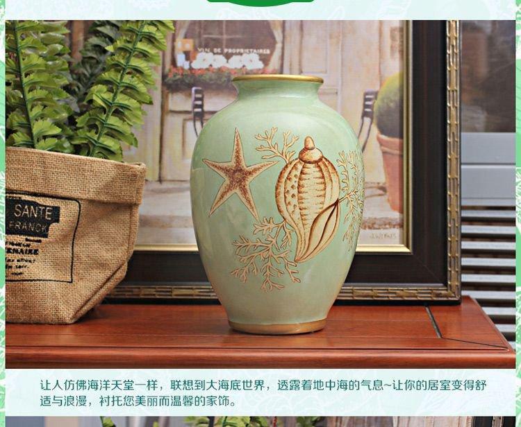 地中海手绘陶瓷花瓶