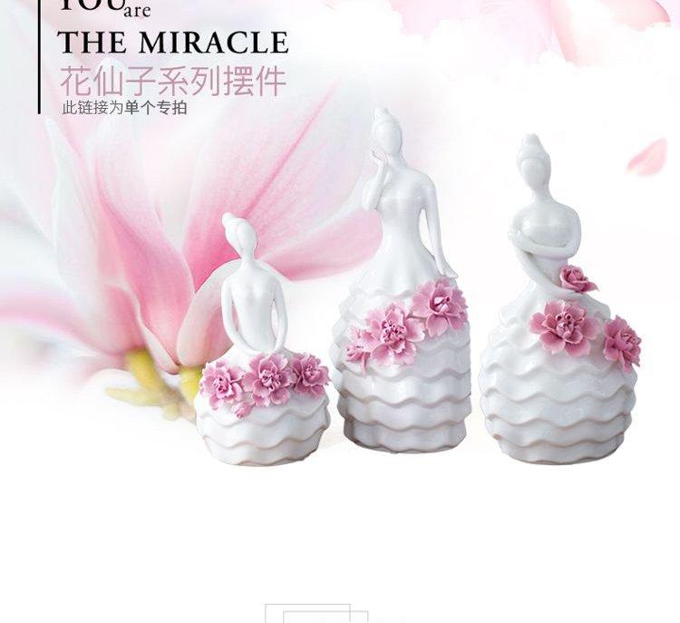 唯美陶瓷花仙子摆件