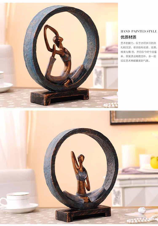 4款选-英伦欧堡创意瑜伽健身礼品装饰摆件