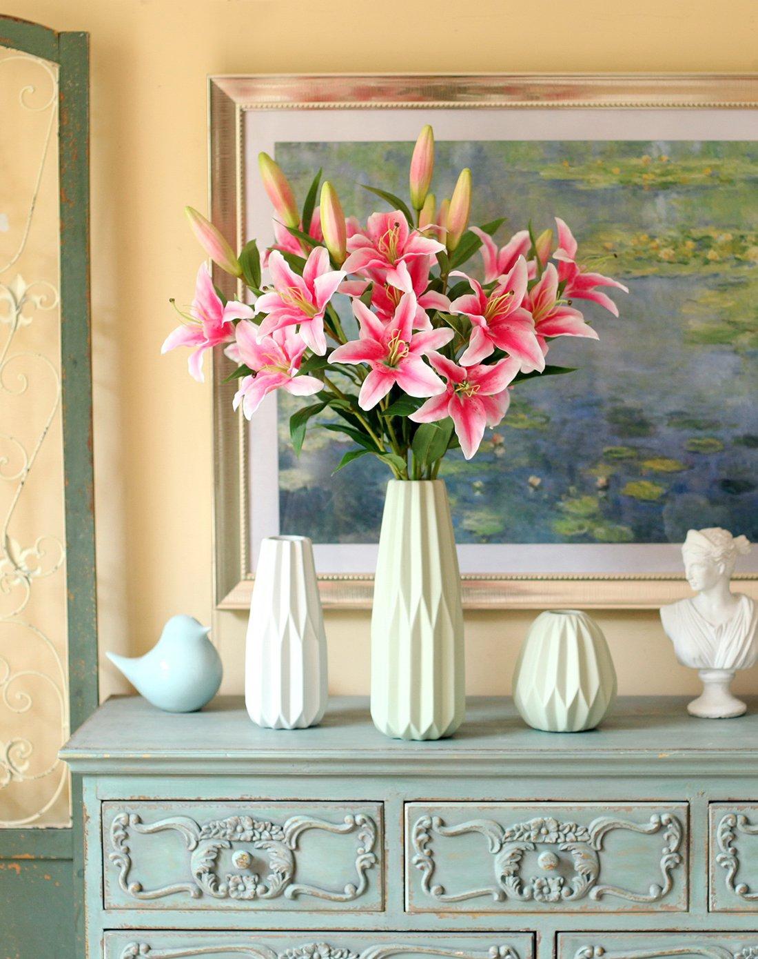 美丽百合花 北欧折纸花瓶大型套装