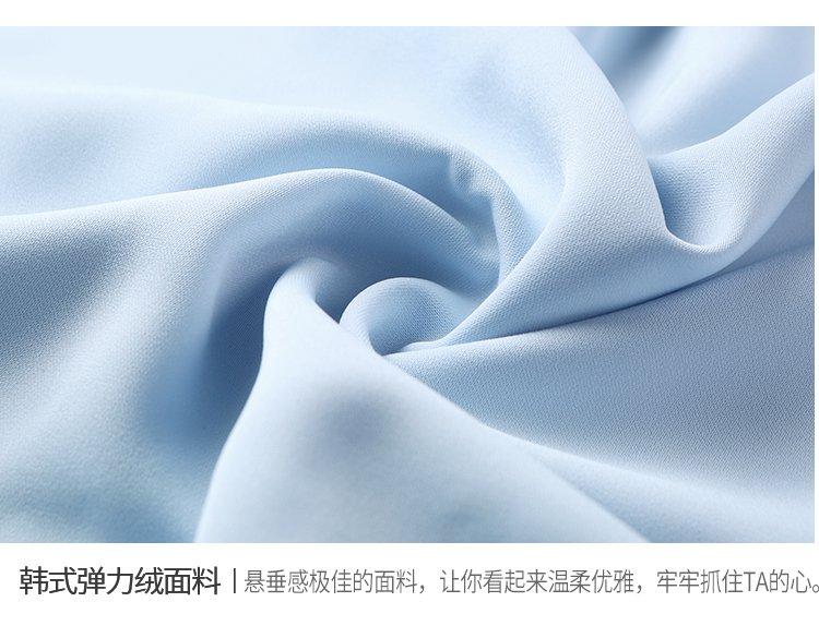 一米阳光纯色镂空连衣裙浅蓝色702242087_唯品会
